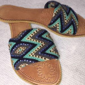 🇨🇴🦋 Handwoven Wayuu Sandals